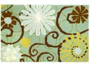 Homefires PY-AJR002 Daisies On Blue Rug