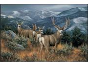 Custom Printed Rugs Dm 50 Last Glance Mule Deer Door Mat