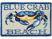 Homefires PY-KH002 Blue Crab Beach Rug