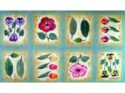 Custom Printed Rugs Dm-03 Botanica Flower Tiles Door Mat