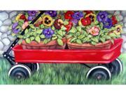 Custom Printed Rugs Dm-29 Little Red Wagon Door Mat
