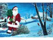 Custom Printed Rugs SANTA Door Mat