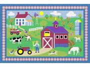 LA Rug OLK-016 3958 Olive Kids Collection - Country Farm Rug - 39 x 58 Inch