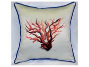 Betsy Drake HJ484 Red Coral Art Only Pillow 18''x18''