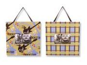 Trend Lab 108084 Frame Set- Rockstar Guitars And Rockstar Plaid Fits 4 Inch X 6 Inch Photo
