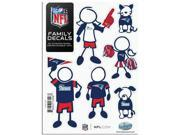 New England Patriots Family Decal Auto Pack Small 5 x 7 9SIACTM57P1332