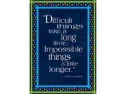 Image of Barker Creek and Lasting Lessons BCP1801 Impossible Things Take Longer Poster