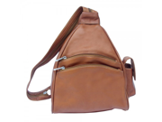 Piel Leather 9932 Two-Pocket Sling- Saddle