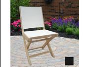 Royal Teak SMSB Sailmate Folding Side Chair-Black Sling