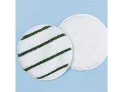 Rubbermaid Commercial Products RCP P271 Low Profile Carpet Bonnet 21 In white W/ green Strip