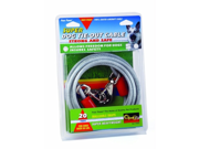 Four Paws - Super Tie Out Cable- Silver 20 Feet - 100203844-84820