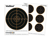 Image of Champion CH-45803 Champion VisiShot Paper Targets, 3 in. Bulls, 8.5x11 - 10pk