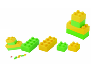Miniland Educational Corp 94112 Gummi Blocks 19 pieces - 18plus - suitcase