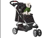PetZip PZ-A701B Monogram Pet Stroller - Black