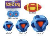MultiPet MU55554 Boingo Ball Plastic Sphere Covered By Rubber Grippers Medium