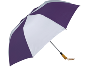 Haas-Jordan by Westcott 4367 58 in. Folding Golf Umbrella Purple-White