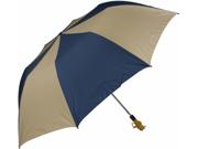 Haas Jordan by Westcott 4313 58 in. Folding Golf Umbrella Navy Tan