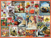White Mountain Puzzles WHITE926 Flower Seeds- 550 pcs