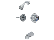 Kingston Brass Kb671 Twin Handles Pressure Balanced Tub And Shower Faucet With Volume Control - Polished Chrome Finish