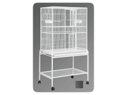 HQ 13221bk 32 in. x 21 in. Single Aviary with Cart Stand - Black