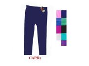 WMU 894023 Small/Medium Ladies' Plain Capri Legging - Navy