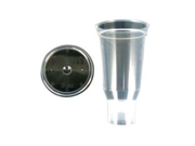 ITW Devilbiss DEVDPC-503-K24 3 Oz. Disposable Cup and Lid- Qty 24 9SIA17P3ZK9273