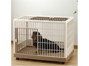 Richell USA 94603 Pet Training Kennel PK 650 Off White Mocha
