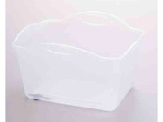 Rubbermaid 2980ARFCLR 15 Quart Clear Smart Solutions Dishpan - Pack of 6