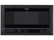 Sharp R1210T 1.5 Cu Ft. Over The Counter Microwave - Black