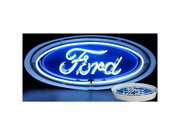 Neonetics 5FOVCN FORD OVAL NEON SIGN IN METAL CAN