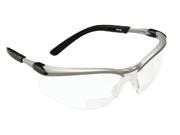 AO Safety 247-11374-00000-20 Bx Reader Silver-Black Frame Clear Lens 1.5 Diop