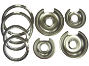 Range Kleen 1056RGE8 GE-Hotpoint Chrome Pan - Trim Ring Set 8 Pk