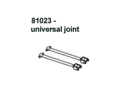 Redcat Racing 81023 Steel Front Universal Drive Shaft - For Redcat RC Racing Vehicles