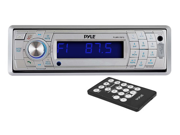 Pyle PLMR17BTS AM FM MPX In Dash Marine Detachable Face Radio with SD MMC USB Player Bluetooth Wireless Technology