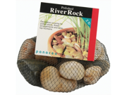 Polished River Rock 32 Ounces Assorted Colors