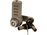 Combi-Cam Ultra 7432S-Key, .63 in., 4 Dial Lock, Chrome