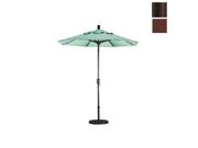 California Umbrella GSPT758117-FD12 7.5 ft. Fiberglass Market Umbrella Push Tilt Bronze-Olefin-Terrace Adobe