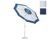 California Umbrella GSCU908170-5439 9 ft. Aluminum Market Umbrella Collar Tilt - Matted White-Sunbrella-Navy 9SIA6YN2B49684