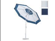 California Umbrella GSCU908170-5439 9 ft. Aluminum Market Umbrella Collar Tilt - Matted White-Sunbrella-Navy 9SIA00Y0RF9003