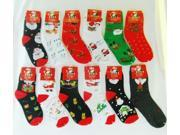 Bulk Buys Kids Christmas Socks - Case of 96