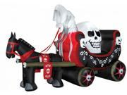 Costumes for all Occasions SS63739G Airblown Animated Skully Wagon