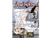 Bulk Buys Louisiana Postcard 13238 State Map - Case of 750