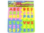 Foam letter and number puzzle - Case of 12