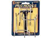 Convenience Concepts SC-72D 3 Count 2 in. Double Straight Pegboard Hooks
