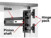 Hardware Distributors KV8090 B72 EB 72 in. D-Shaped Pinion Shaft - Black