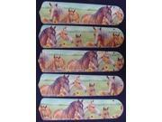 Ceiling Fan Designers 52SET-ANI-HORS New HORSES HORSE EQUESTRIAN 52'' Ceiling Fan BLADES ONLY