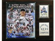 C & I Collectables 1215SB46GD NFL 12 X 15 New York Giants Super Bowl XLVI Limited Edition 12 x 15 Champions Plaque 9SIA00Y0Z77763