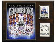C & I Collectables 1215SB46NY NFL 12 X 15 New York Giants 12 x 15 Super Bowl XLVI Champions Plaque 9SIA00Y0Z78508