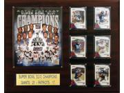 C & I Collectables 1620SB46NY NFL 16 X 20 New York Giants 16 x 20 Super Bowl XLVI Champions Plaque 9SIA00Y0Z78527
