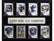 C & I Collectables 1215SB46NYG8C NFL 12 X 15 New York Giants Super Bowl XLVI 8 Card Champions Plaque 9SIA00Y0Z78559